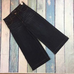 NEW Express Jeans Culotte Wide Leg Crop Denim 8
